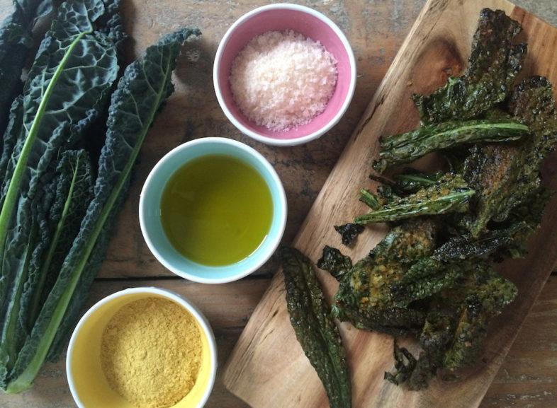 4 Ingredient Kale Chips
