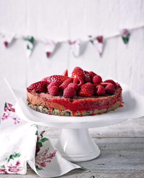 Raw Berry And Chocolate Torte
